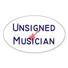Unsigned Musician Oval Decal