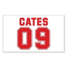 CATES 09 Rectangle Sticker 50 pk)