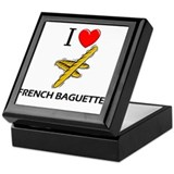I Love French Baguettes Keepsake Box