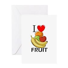 I Love Fruit Greeting Card