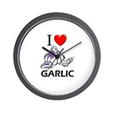 I Love Garlic Wall Clock