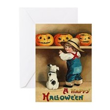 Halloween Jack O'Lanterns Greeting Cards (Pk of 10