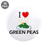 "I Love Green Peas 3.5"" Button (10 pack)"