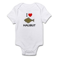 I Love Halibut Infant Bodysuit