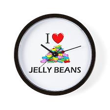 I Love Jelly Beans Wall Clock