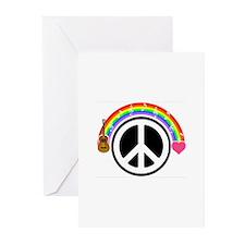 Peace/Rainbow/Music Greeting Cards (Pk of 10)