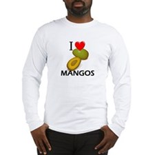 I Love Mangos Long Sleeve T-Shirt