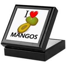 I Love Mangos Keepsake Box
