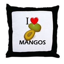 I Love Mangos Throw Pillow