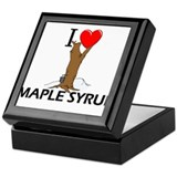 I Love Maple Syrup Keepsake Box