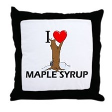 I Love Maple Syrup Throw Pillow