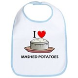 I Love Mashed Potatoes Bib