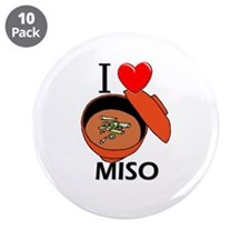 "I Love Miso 3.5"" Button (10 pack)"