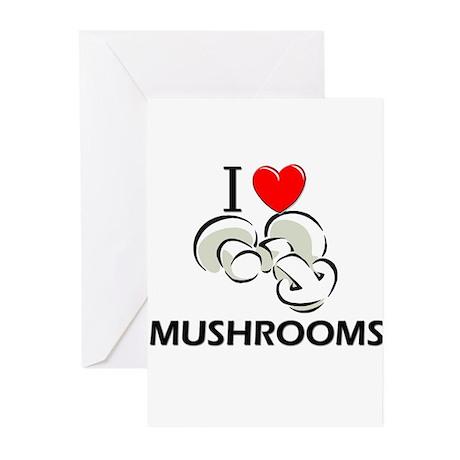 I Love Mushrooms Greeting Cards (Pk of 10)