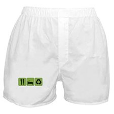 Eat, Sleep & Recycle Boxer Shorts