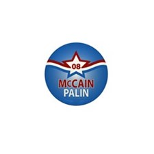 McCain Palin Star Mini Button