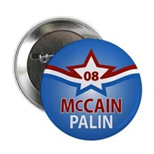 "McCain Palin Star 2.25"" Button"