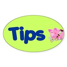 Tips Oval Sticker (50 pk)