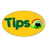 Tips Oval Sticker (10 pk)