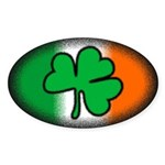 Irish Clover Oval Sticker (10 pk)