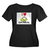 I Love Oatmeal Women's Plus Size Scoop Neck Dark T