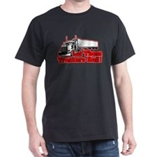 Let Them Truckers Roll! - Red T-Shirt