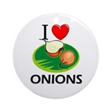 I Love Onions Ornament (Round)