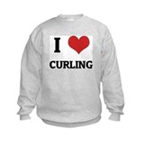 I Love Curling Sweatshirt
