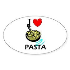 I Love Pasta Oval Decal