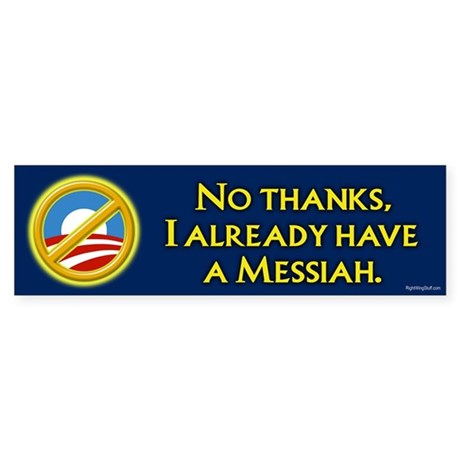 Already have a Messiah Bumper Sticker