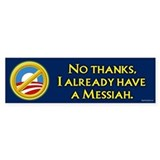 Already have a Messiah Bumper Bumper Sticker