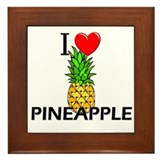 I Love Pineapple Framed Tile