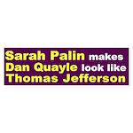 Sarah Palin, Dan Quayle and Thomas Jefferson