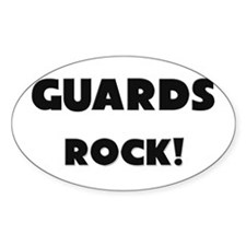Guards ROCK Oval Sticker