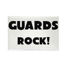 Guards ROCK Rectangle Magnet