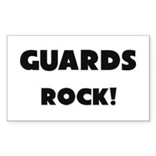 Guards ROCK Rectangle Sticker