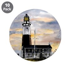 "Montauk Point lighthouse New 3.5"" Button (10 pack)"