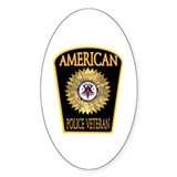 American Police Veterans Patc Oval Decal