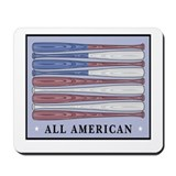 All American Baseball Mousepad