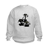 Three Black Cats Sweatshirt
