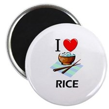 "I Love Rice 2.25"" Magnet (10 pack)"