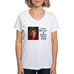 Sarah Palin Picture McCain Palin 08 Women's V-Neck