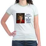 Sarah Palin Picture McCain Palin 08 Jr. Ringer T-S