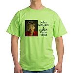 Sarah Palin Picture McCain Palin 08 Green T-Shirt