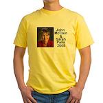 Sarah Palin Picture McCain Palin 08 Yellow T-Shirt