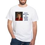 Sarah Palin Picture McCain Palin 08 White T-Shirt
