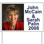 Sarah Palin Picture McCain Palin 08 Yard Sign