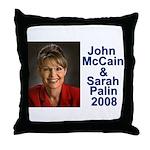 Sarah Palin Picture McCain Palin 08 Throw Pillow