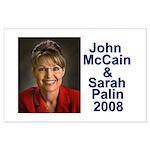 Sarah Palin Picture McCain Palin 08 Large Poster