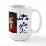 Sarah Palin Picture McCain Palin 08 Large Mug